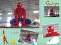 Inflável homem aranha dos desenhos animados / inflável cartoon / caricatura anúncio inflável