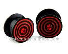 Acrylic Ear Plugs EAR GAUGES With Single Gem eco ear plugs