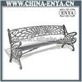 Metal banco do parque, móveis para ambientes externos, mobília do pátio