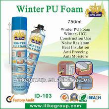 winter polyurethane low temperature pu foam straw type