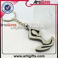 forma de serpente de metal novidade chaveiro anel