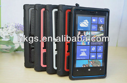 Top Sale For Nokia Lumia 920 Pro Stand Case TPU &PC Cover