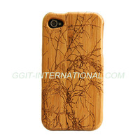 Hot Sell Mobile Phone Wooden Case for iPhone 4 Back Cover