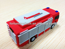 1gb/2gb/4gb/8gb custom 3d fire truck usb flash memory
