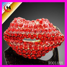 FASHION RINGS DIVA ACCESSORIES RED KISS DIVA