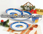 16pcs Fine Round Porcelain Blue And White Dinner Set With Decal