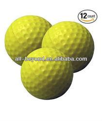 Practice Golf Balls, Foam, 12 count,Yellow
