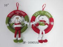 Merry christmas/Lovely christmas snowman, santa claus,reindeer door hanging/christmas decoration