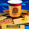 disposable white kraft paper coffee sleeves/ paper cup sleeves/holder