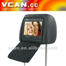 Headrest monitors for passat TM-705H 7 inch car headrest LCD monitor widescreen+ pair pillow
