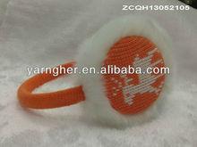 lovely deer animal pattern knitted earmuffs