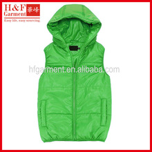 men's vest cotton vest made of 100 nylon for casual wear in green