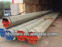 Carbon steel pipe with plastic sheets