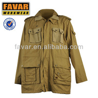 mens cotton canvas hunting and fishing winter jacket garment