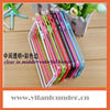Cool 2013 Color Clear TPU Silicone Bumper Frame Case W/ Metal Buttons for iPhone 5 5G 5th