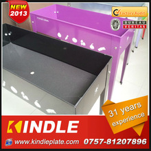 Modern designed and durable metal raised planting bed for planting at home