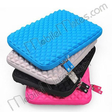 "Diamond Pattern Anti-shock Waterproof PU Leather Bag Case for iPad 4 New iPad 10"" Tablet PC"