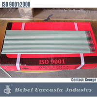 Raw material of welding electrodes