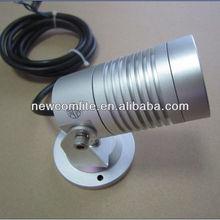 Outdoor silver 3W garden light LED spike/base