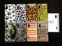 Skull Bone design Plastic MID case hard back cover for LG E610 Optimus L5