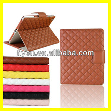 Deluxe Clip Flip wallet case for ipad mini Smart Cover Magnetic Folio PU Leather Cases Covers for iPad Stylish Pattern Brown