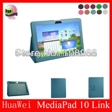 For Huawei Mediapad 10 link High quality leather case,leather case for Huawei Mediapad 10 link leather case,Blue