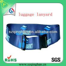 travel luggage belt lanyards With heat transfer printed Logo