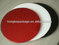 Colorful Round Paper Food Tray For Cake
