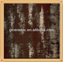 Ceramic Tile Rustic Tile Porcelain Tile 600x600 Strongly Ancient Charm Metallic Design Garden brown