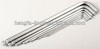 gs king tools,Matt ball head, inner hexagon spanner 1.5-10 mm chrome vanadium steel