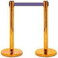 Promotion: chandeliers ceinture rétractable barrière, obstacles file d'attente, public d'orientation