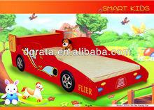 2013 children racing car bed is MDF board cool style children bedroom furniture