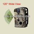 grado 120 al aire libre de los animales de vigilancia de cámaras de vídeo trampa gsm mms gprs