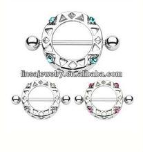 Brustwarzen Schild Cristal Ring Body Jewelry Nipple Shield