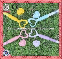2013 new style promotional gel pen with heart shape pen cap gel pen