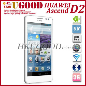 Android 4.1 Huawei Ascend D2 Phones Quad Core CPU 1.5Ghz 5.0 inch Full