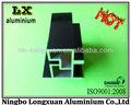 Perfil de aluminio anodizado negro