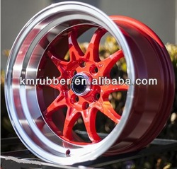 15X7 STR 513 4X114.3 +0 RED MACHINED WHEEL FIT DATSUN