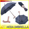 golden metal handle old men stick stripe straight umbrella/walking stick straight umbrella for old men