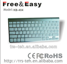 2013 NEW Arrival!Mini size 2.4Ghz wireless bluetooth laptop keyboard (KB-404)