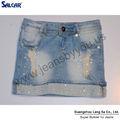 low rise apertado diamante mini vestido denim saia jeans para senhoras e meninas