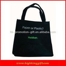 Multi-functional Black Canvas Tote Bags Wholesale (HKCS-1042)
