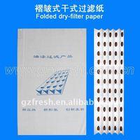 paint arrestor filter paper,folded paper filter