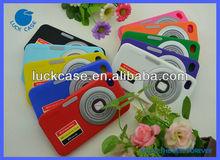 3D soft camera desgin silicone phone case for iphone4/4s