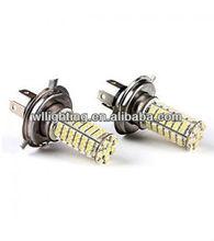 H4 102 SMD 3528 Car LED White/ Warm White Headlight Fog Lights lamps bulbs DC 12V