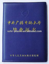 Plastic Diploma Certificate Covers