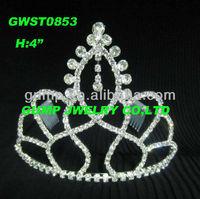 India rhinestone wedding and party tiara crown