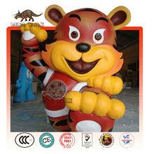 Cartoon Tiger Mascot Statue