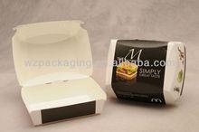 Resonable price food safe fast hamburger box
