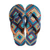 2013 new well sale cheap men's flip flops with printing pattern insole and double color upper (HG13012